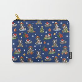 Christmas time - Frisian cow Carry-All Pouch