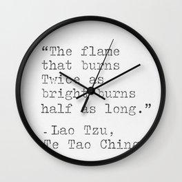 Lao Tzu, philosophy, quote. Wall Clock