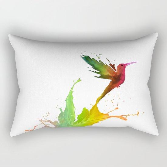 Humming Bird Colors Rectangular Pillow