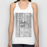les miserables Tank Tops featuring Les Miserables Quote Winter by KimberosePhotography