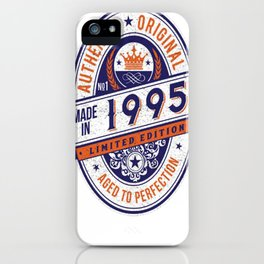 Made-In-1995-Birthday-T-Shirt-22nd-Birthday-Gift-Idea iPhone Case