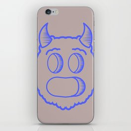 Monster head iPhone Skin