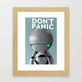 Don't Panic Framed Art Print