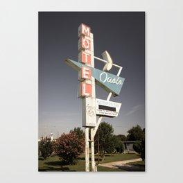 Aged Oasis Motel Route 66 Sign - Tulsa Oklahoma Canvas Print