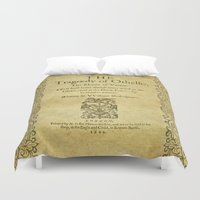 shakespeare Duvet Covers featuring Shakespeare. Othello, 1622. by BiblioTee
