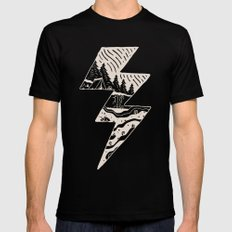 Stormy Day Black Mens Fitted Tee X-LARGE
