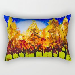 Tree Line Rectangular Pillow