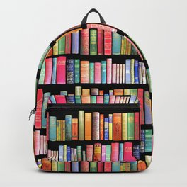 Vintage Book Library for Bibliophile Backpack