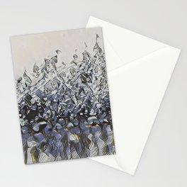 Vivid, Impressionist, Modern, Water Movement Art-Piece titled: Splash Stationery Cards