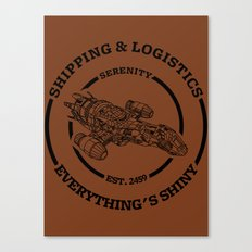 SERENITY SHIPPING AND LOGISTICS Canvas Print