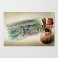 watercolour Canvas Prints featuring Watercolour by liberthine01