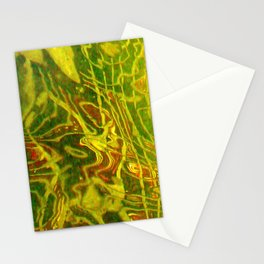 Green Red Water Abstract | Nadia Bonello Stationery Cards