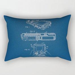 Gameboy blue Patent Rectangular Pillow
