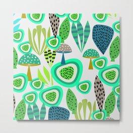 Fresh abstract greenery Metal Print