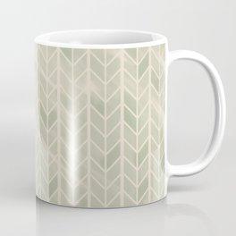 Herringbone // Jade Green Coffee Mug