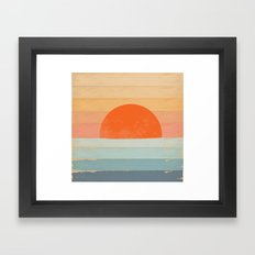 Sunrise Over the Sea Framed Art Print