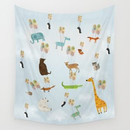 the sky zoo Wall Tapestry