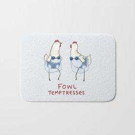 Fowl Temptresses Bath Mat
