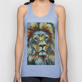 AnimalArt_Lion_20171004_by_JAMColorsSpecial Unisex Tank Top