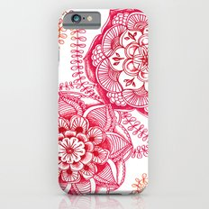 Pink Floral Doodle Slim Case iPhone 6s