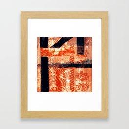Artesanato Indígena (indigenous crafts) Framed Art Print