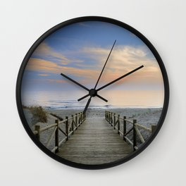 "The path..., the beach.... ""Artola"". Wall Clock"