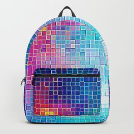 Colorful Abstract Pixels Backpack