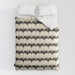 Bats & Skulls (WHITE) Comforters