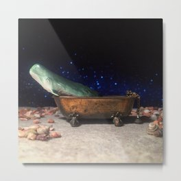 The Whale + The Bathtub Metal Print
