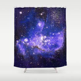 Infant Stars in Neighbouring Galaxy Shower Curtain
