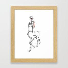 Hipster fawn Framed Art Print