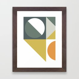 Mid Century Geometric 01 Framed Art Print