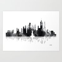 new york skyline Art Prints featuring New York, New York Skyline by Marlene Watson