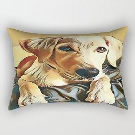 Yellow Labrador Retriever Puppy Rectangular Pillow