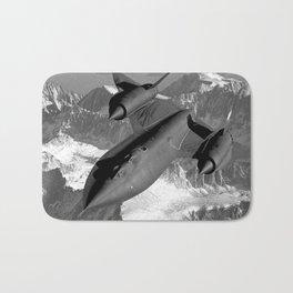 SR-71 Blackbird Flying Bath Mat