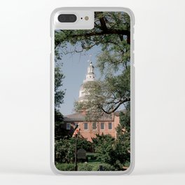 Maryland State House Clear iPhone Case