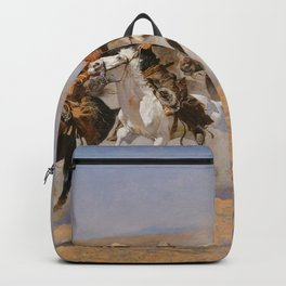 A Dash for the Timber - Frederic Remington Backpack
