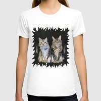 marble T-shirts featuring Marble Meows by Distortion Art