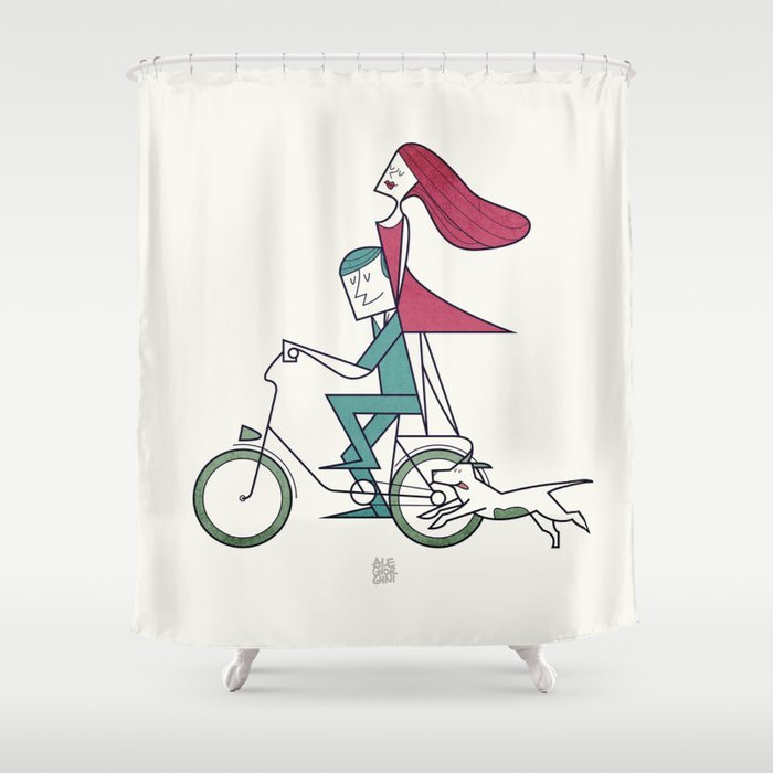 Faster than the wind Shower Curtain