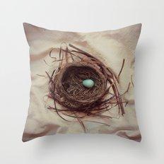 Robin Nest Throw Pillow