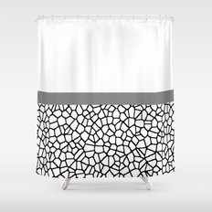 staklo (gray stripe) Shower Curtain