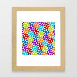 Multi-Coloured Flower Pattern Framed Art Print