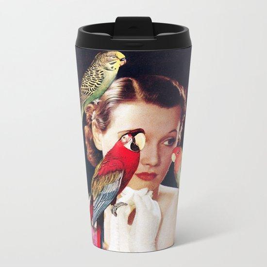 Bird Lady Metal Travel Mug