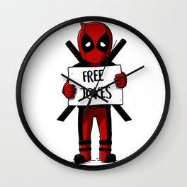 Free jokes Wall Clock