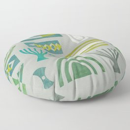 Green bits Floor Pillow