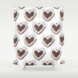 Valentine Heart Cookie Pattern Shower Curtain
