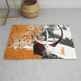 Basketball art swoosh vs 42 Rug