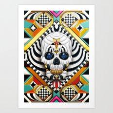 Skullture Art Print