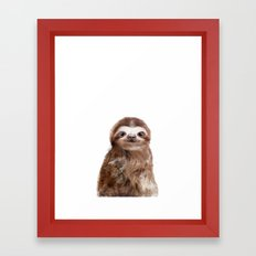 Little Sloth Framed Art Print