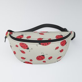 Ladybugs-Beige+Red Fanny Pack